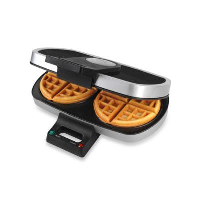 TRU Dual Round Belgian Waffle Maker
