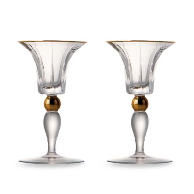 Trump Home™ Elmsford Crystal 5-Inch Candleholder (Set of 2)