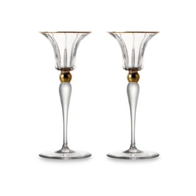 Trump Home™ Elmsford Crystal 7-Inch Candleholder (Set of 2)