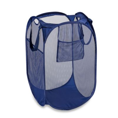 Pop-Up Mesh Laundry Hamper in Medieval Blue