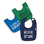 Gerber® 2-Ply Boy Sayings Terry Bibs