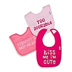 Gerber® 2-Ply Girl Sayings Terry Bibs