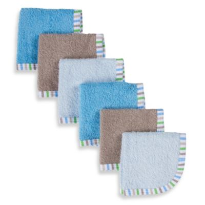 Gerber® Assorted Blue Woven Washcloths