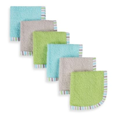 Gerber® Assorted Neutral Woven Washcloths