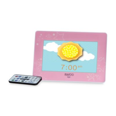 ZAZOO KiDS™ Photo Clock in Pink Stars