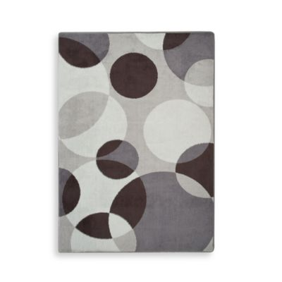 Eclipse Charcoal Memory Foam Rug