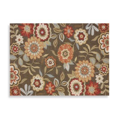 Francesca Collection Decorative Rugs in Brown