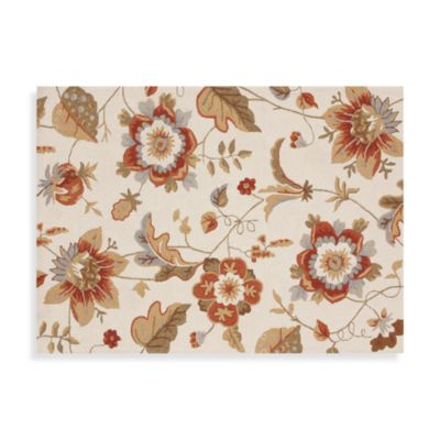 Francesca Collection Decorative Rugs in Ivory