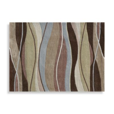 The Grant Collection Decorative Rugs in Olive/Brown