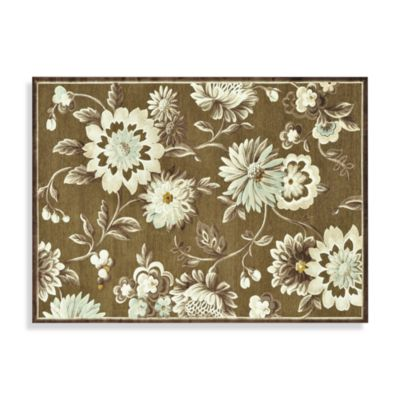 Loloi Rugs Halton Collection Chenille Floral Rug in Light Brown/Beige