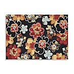 Juliana Collection Handcrafted Decorative Rugs in Black Floral