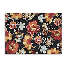 Loloi Rugs Juliana Collection Handcrafted Decorative Floral Rug in Black/Multi