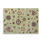 Juliana Collection Handcrafted Decorative Rugs in Green Floral
