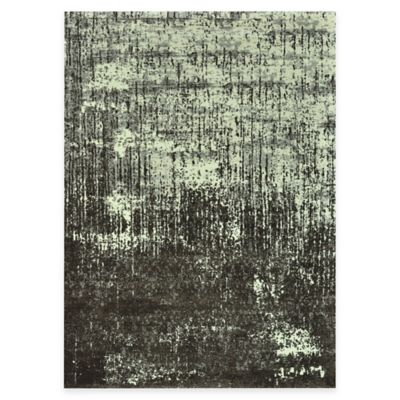 The Viera Collection Contemporary Vintage Decorative Rugs in Ivory/Brown