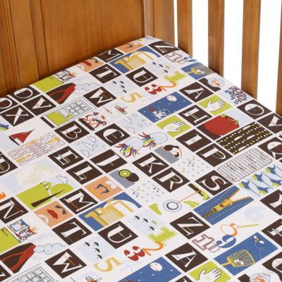 Go Mama Go Designs A is for Alien Crib Sheet
