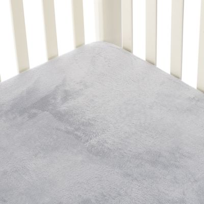 Go Mama Go Designs Grey Minky Crib Sheet