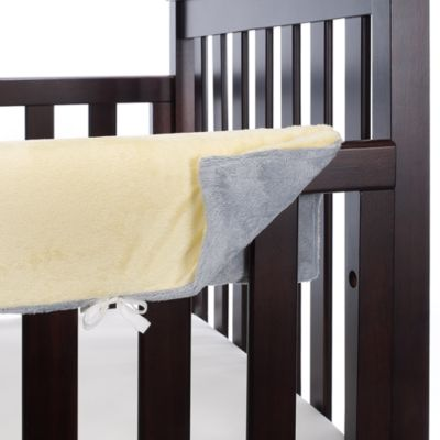 Go Mama Go Designs Grey and Yellow 52-Inch x 6-Inch Teething Guard