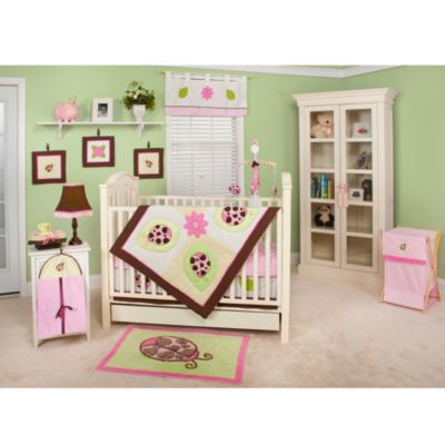 Pam Grace Creations Lady Bug Lucy 10-Piece Crib Bedding Set