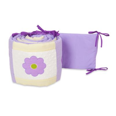 Pam Grace Creations Lavender Butterfly 4-Piece Crib Bumper Set