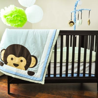 Pam Grace Creations Maddox Monkey 10-Piece Crib Bedding Set