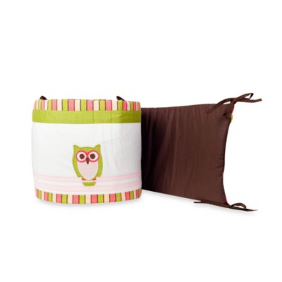 Pam Grace Creations Sweet Dream Owl 4-Piece Crib Bumper Set