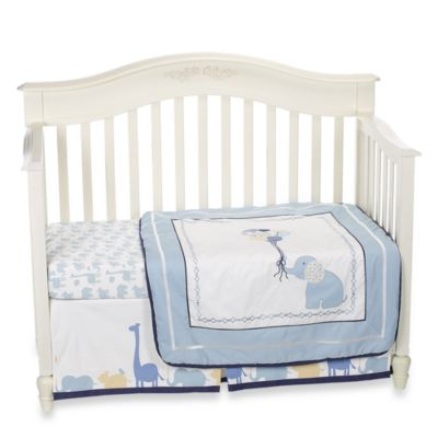 Petit Tresor Happy Animals 4-Piece Crib Bedding Set