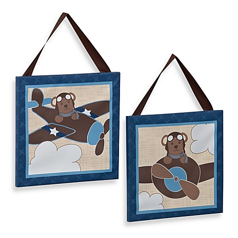 CoCaLo Baby® Lil' Aviator 2-Piece Wall Art