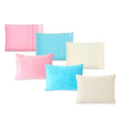 My First Memory Foam Toddler Pillow Case in Soft Blue