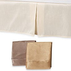 Elegant Faux-Silk Tailored Bed Skirt, 100% Cotton