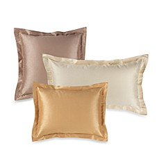Elegant Faux-Silk Tailored Pillow Shams, 100% Cotton