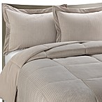 Luxe Stripe Reversible Down-Alternative Twin Bedding Set