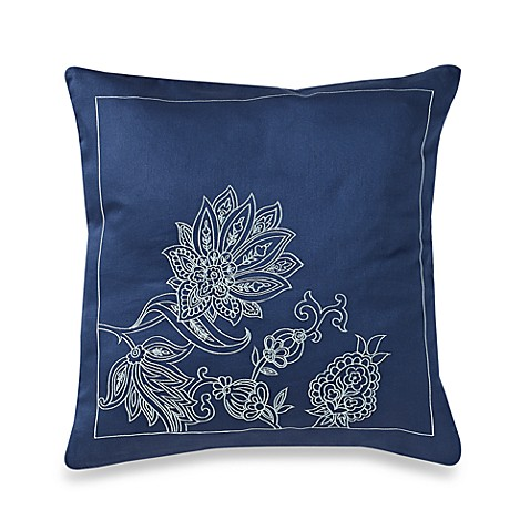 Nautica Tisbury Floral Square Throw Pillow