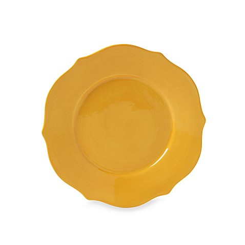 Misto Baroque Yellow 8 1/2-Inch Scalloped Salad Plate