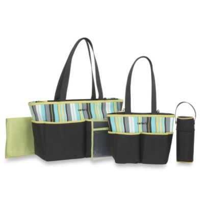 Carter's® 5-Piece Diaper Bag Set in Black/Sage