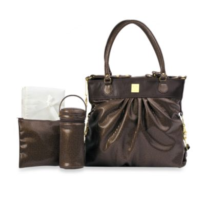 Kalencom On the Wild Side Diaper Bag in Chocolate Ray