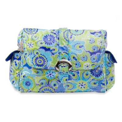 Kalencom Single Buckle Laminated Diaper Bag in Jazz Cobalt