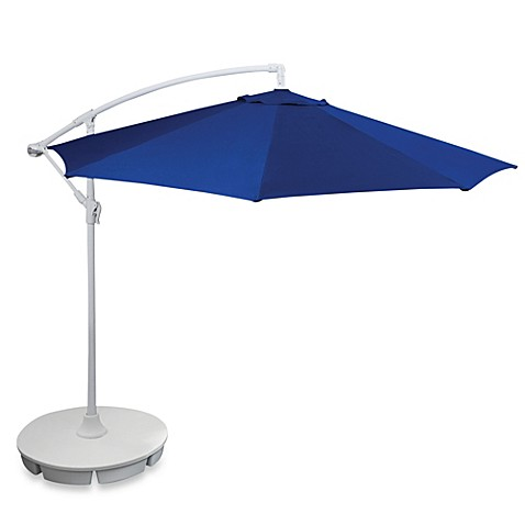 9-Foot Cantilever Round Umbrella in Blue