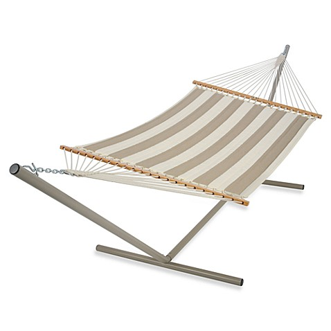Pawleys Island Large Quilted Hammock in Taupe
