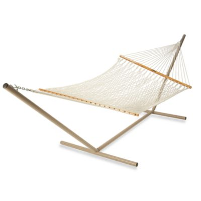 Pawleys Island Large Cotton Rope Hammock in Natural