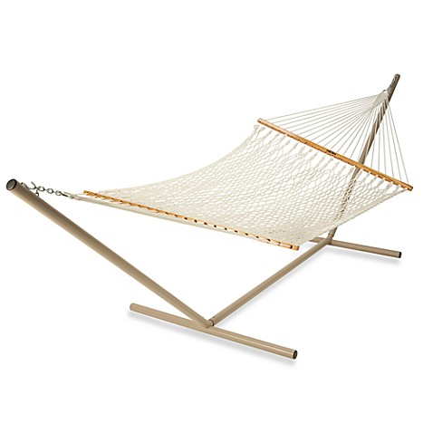 Pawleys Island Large Cotton Rope Hammock In Natural Bed