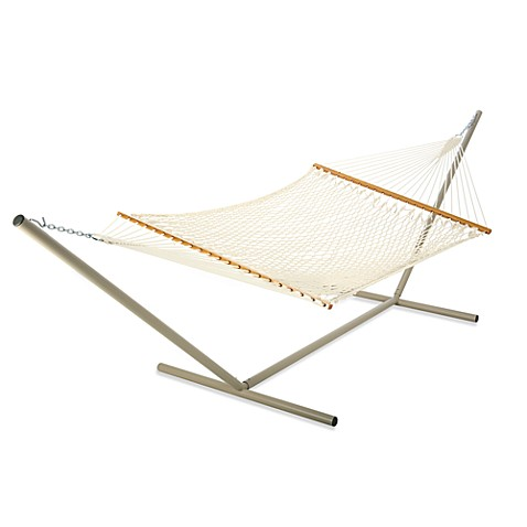 Castaway Hammocks by Pawleys Island Large Rope Hammock in White