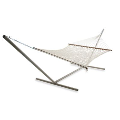 Castaway Hammocks by Pawleys Island Extra Large Rope Hammock in White