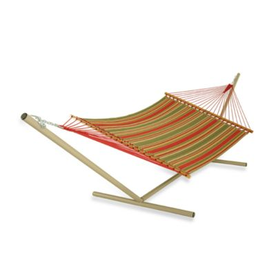 Pawleys Island Large Quilted Hammock in Stripe