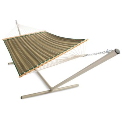Pawleys Island Large Polyester Quilted Hammock in Natural