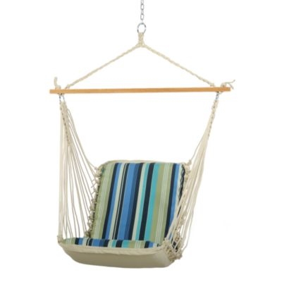 Pawleys Island Single Cushioned Swing in Blue