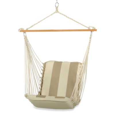 Pawleys Island Single Cushioned Swing in Taupe