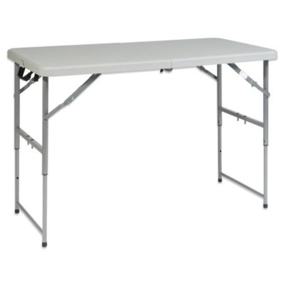 Office Star Products Height Adjustable Multi-Purpose Table in Off White