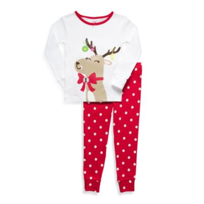 Carter's® Reindeer Red & White Dot 2-Piece PJs