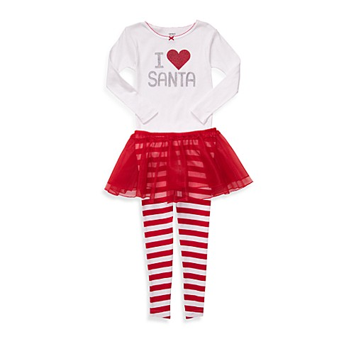 Carter's® I Love Santa 3-Piece Toddler PJs - 2T