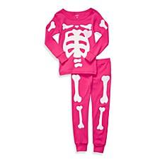 Carter's® Pink Skeleton Snug Fit Cotton 2-Piece PJs